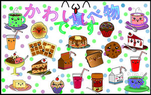 Cute Food Wallpaper by sayuri-hime-7