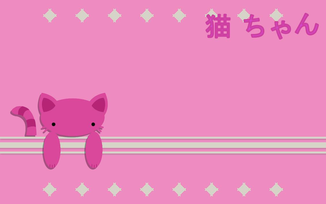 Pink Neko Chan Wallpaper by sayuri-hime-7
