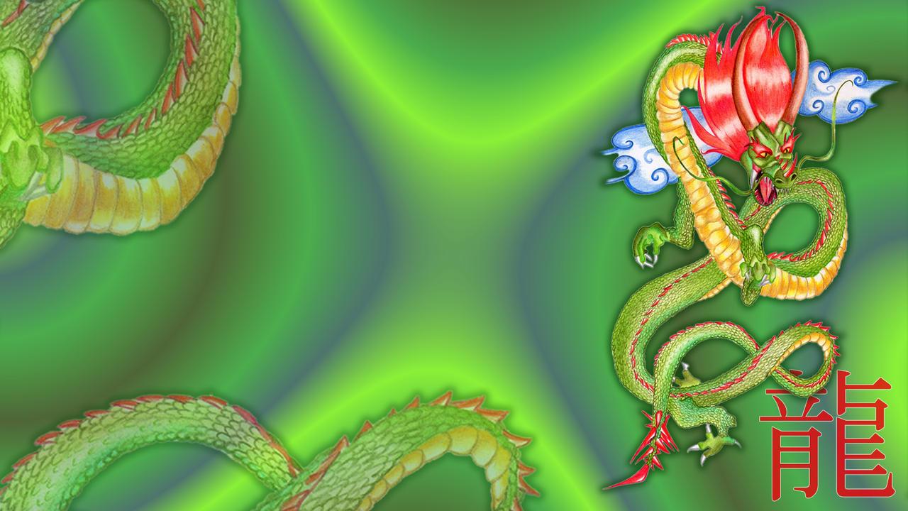 Chinese Dragon Wallpaper by sayuri-hime