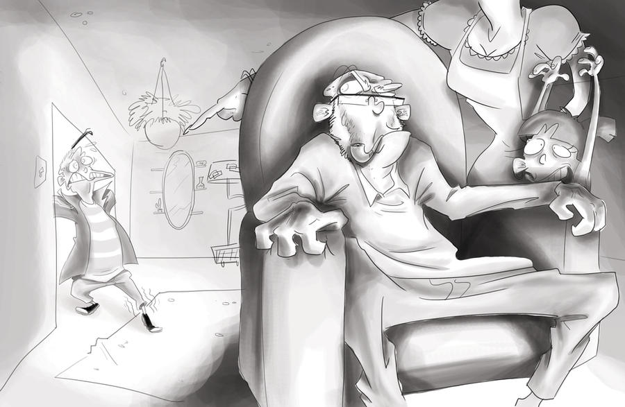 And Dad Will Just Sit There And Watch Tv By Schnab On Deviantart