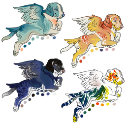 Adoptables: Love Birddogs 1/4 open by deadonarrival