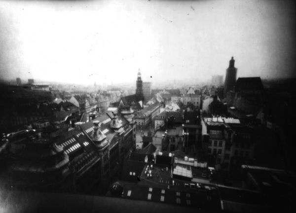 Wroclaw city view pinhole by Teironius