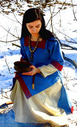Early medieval russian tunic with  hems by SlavMedievalShop