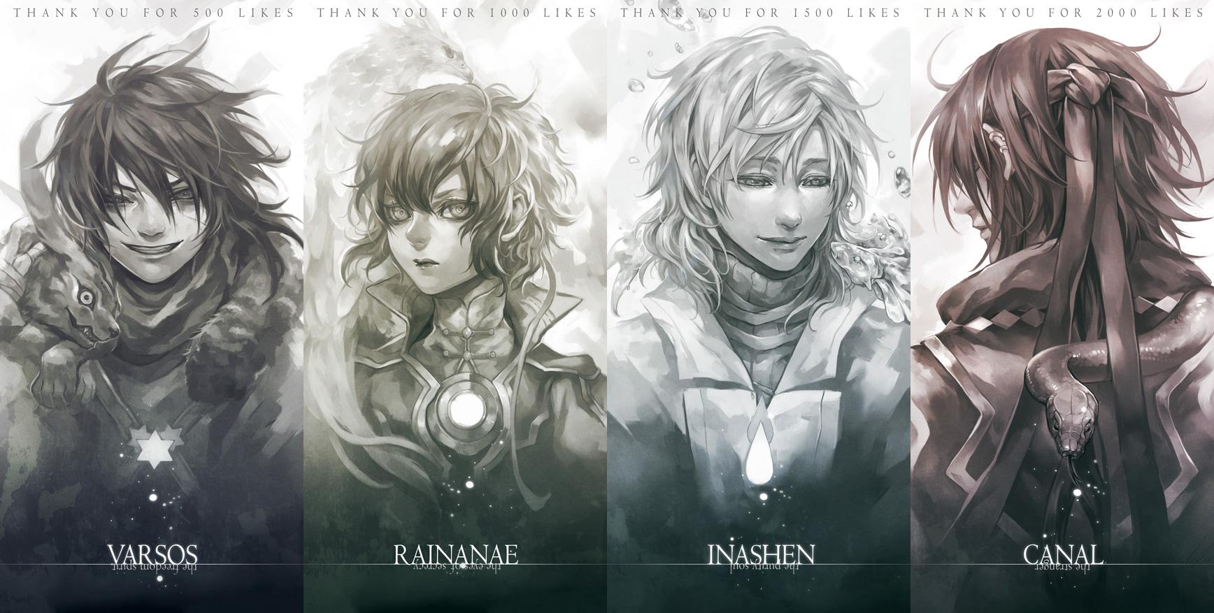 My dear characters by EnferDeHell