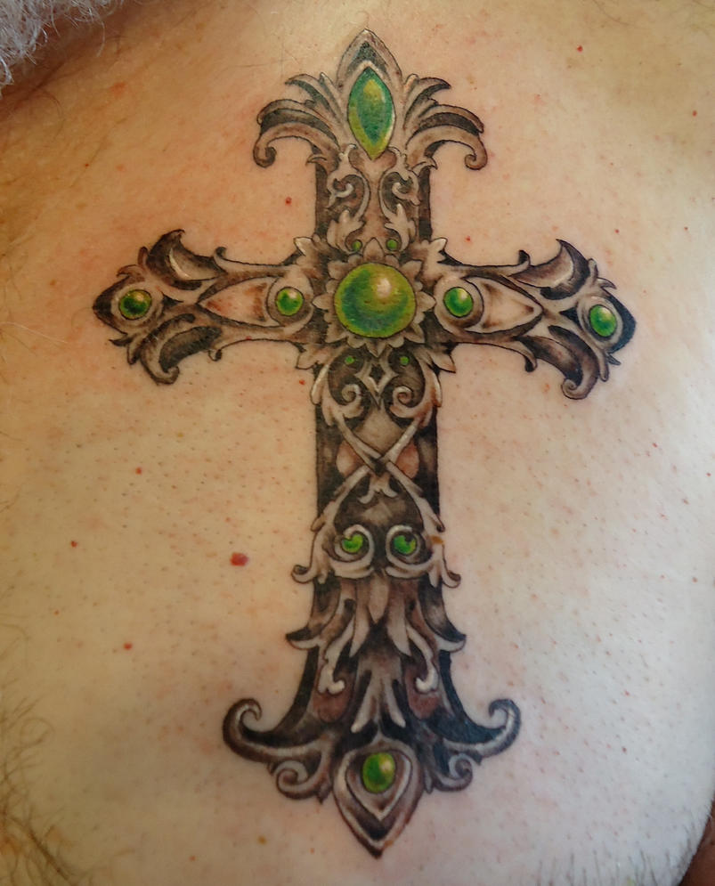 gothic cross tattoo by groveblonde on deviantart