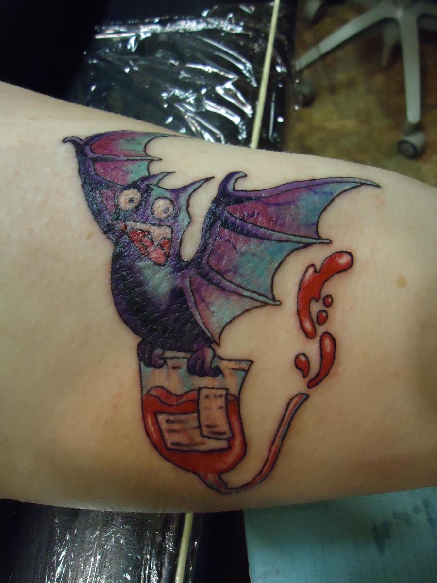 Bat Tattoo by groveblonde