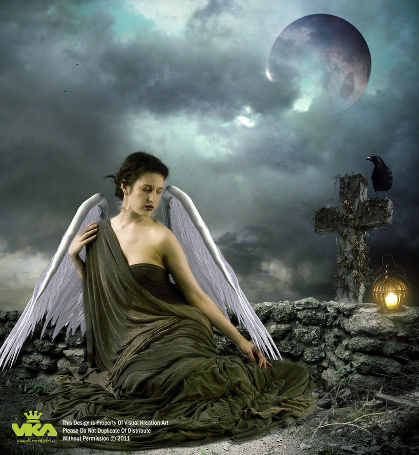 Alone And Sad Angel by baloch1
