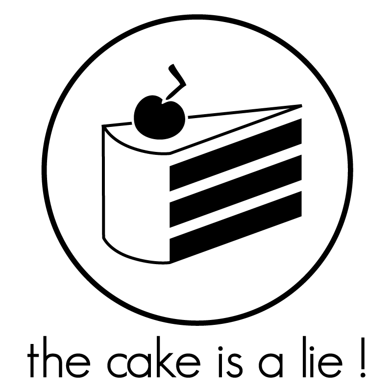 the cake is a lie by theShad0w on DeviantArt
