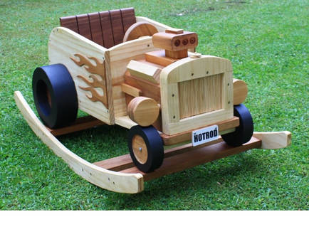 Wooden Rocking HotRod