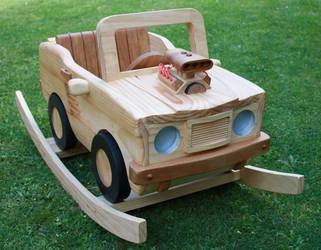 Wooden Rocking V8 Muscle Car