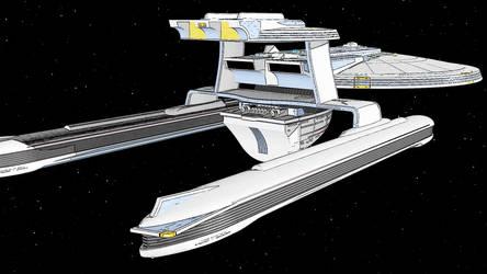 Denver-Class Starship (alternate angle) by sm12905
