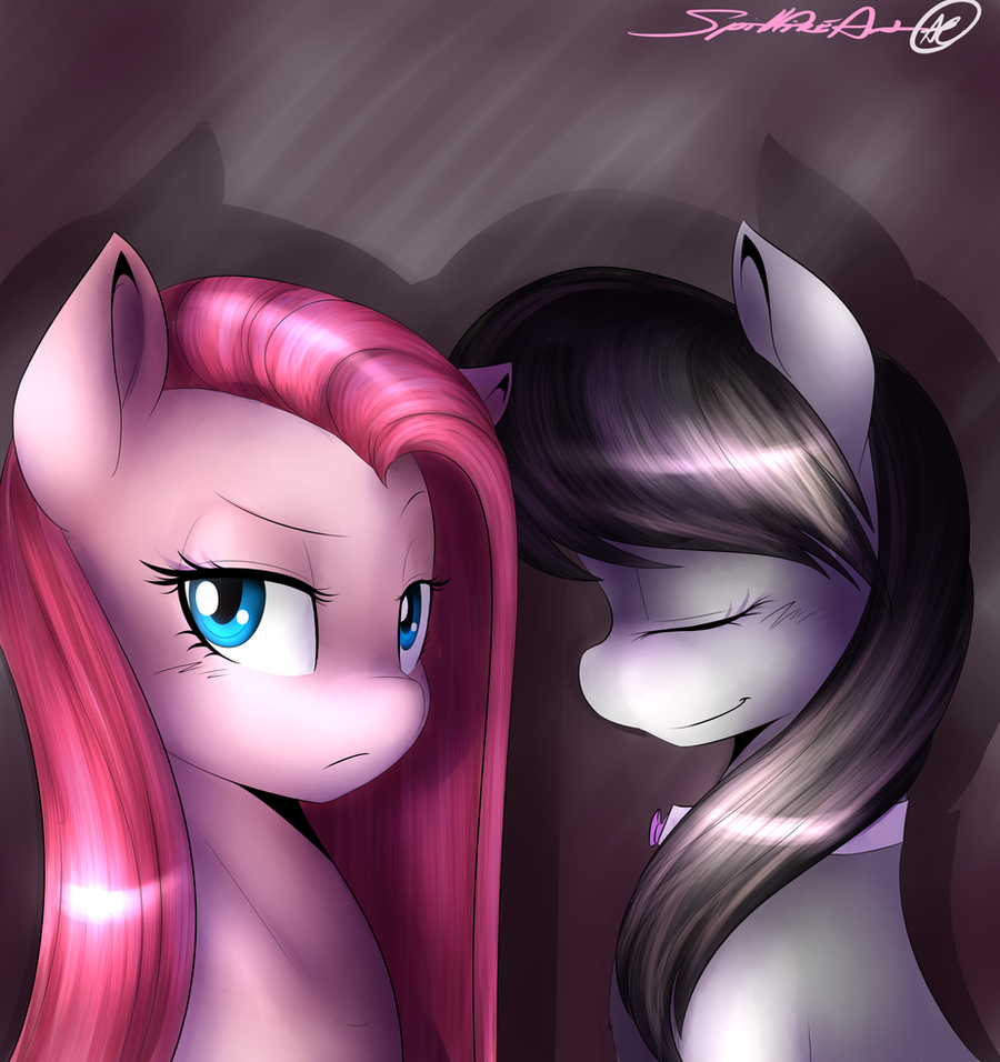 Pinkamina and Octavia by spittfireart