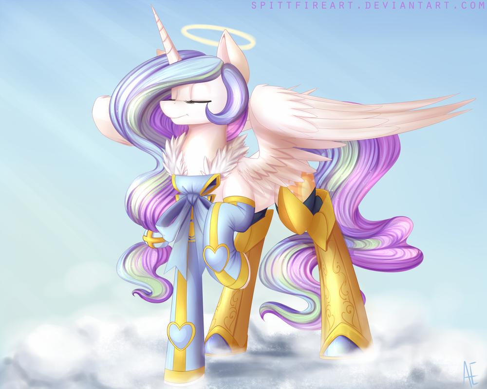 commission__angel_celestia_by_spittfirea