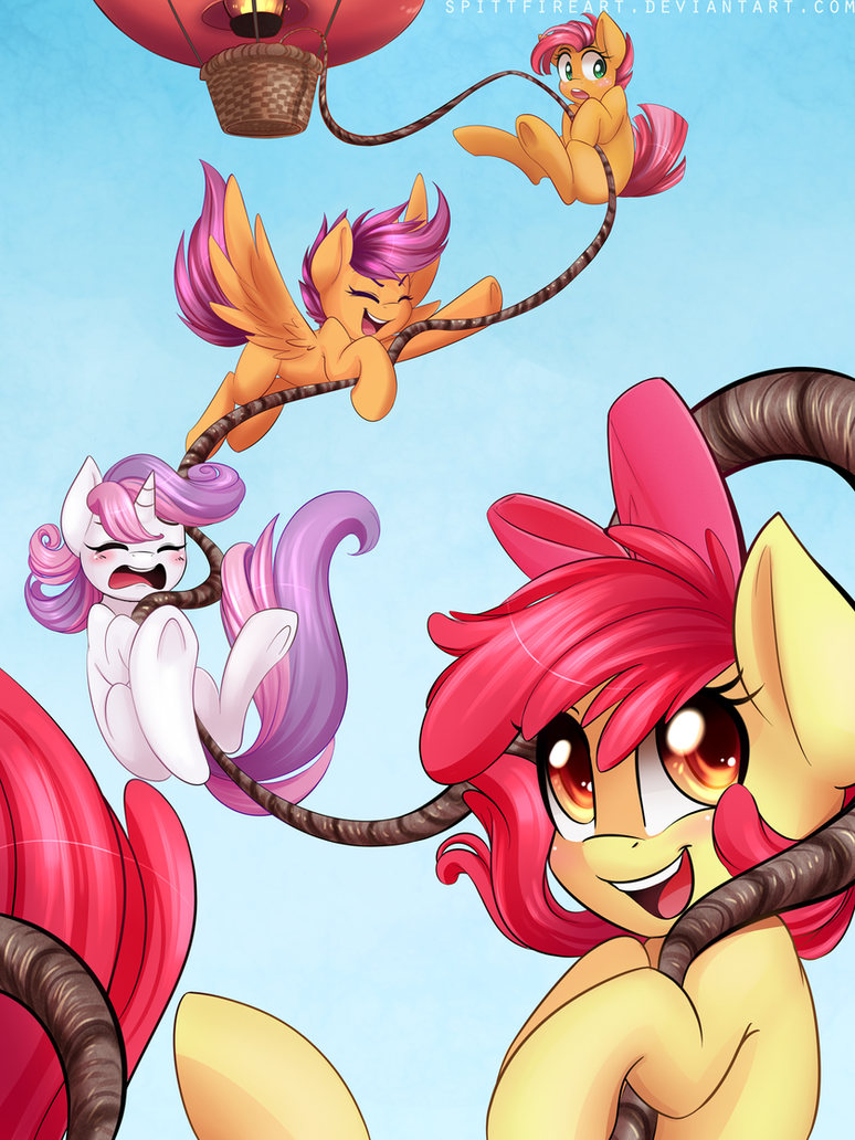 cutie_mark_crusaders__by_spittfireart-d6