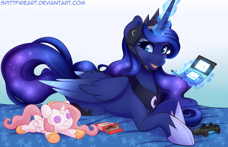 Gamer Luna 2.0 by spittfireart