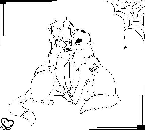 coloring pages anime animals - gothic lovebirds by anime animal on deviantart