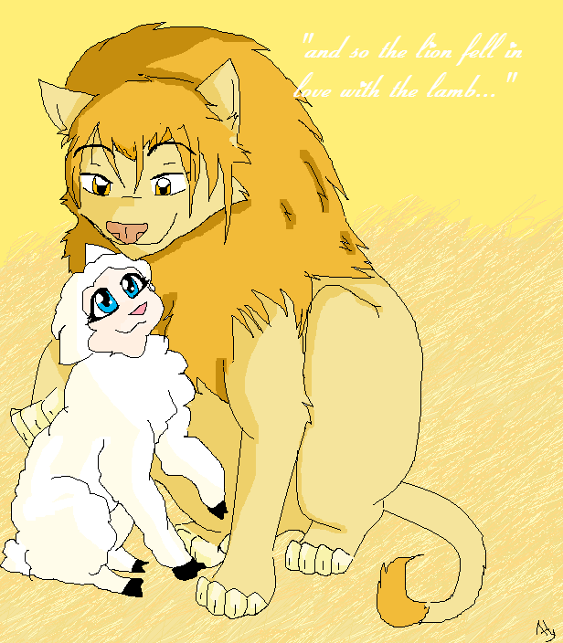 So Lion Fell In Luv With Lamb By Anime Animal