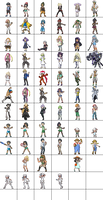 Pokemon Sun Moon trainers sprites (ongoing)