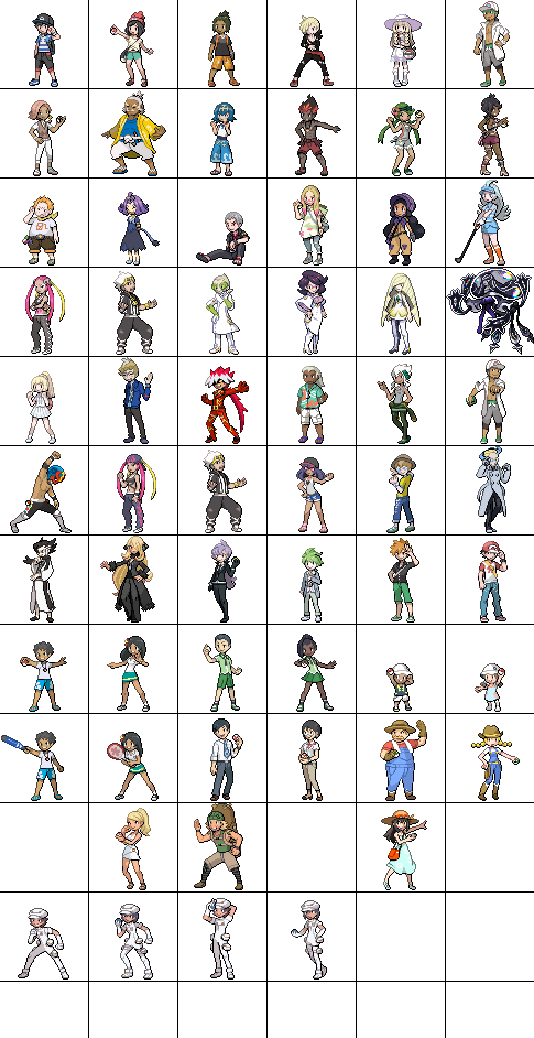 Pokemon Sun Moon trainers sprites (ongoing) by Beliot419