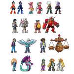 Sprites: Mega Man Star Force characters