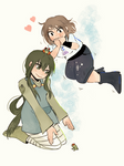 Bnha Ochako and Tsuyu