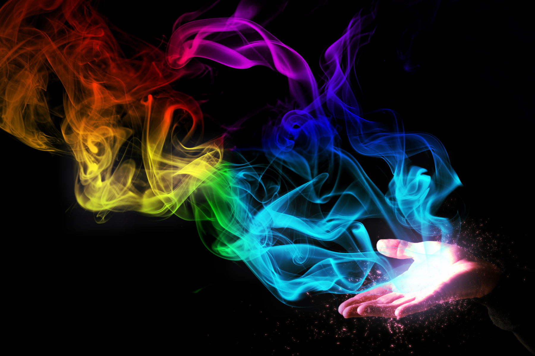 Smoke color Hand by DiegoSkywallker