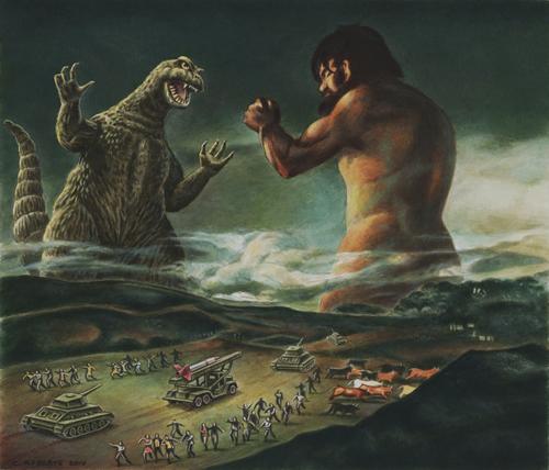 Godzilla VS Goya by Monsterbatory1