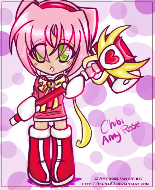 Chibi Amy Rose by Ikuna62