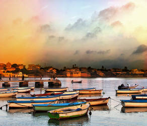 Colorful Harbor by Reham-Y