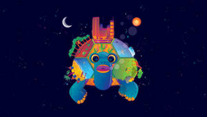 Space Turtle and a World