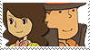 Layton x Emmy Stamp by SamCCStamps