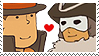 Layton x Descole Stamp by SamCCStamps