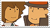 Layton x Froshel Stamp by SamCCStamps
