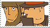 Layton x Clark Stamp by SamCCStamps