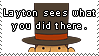Layton Sees Stamp by SamCCStamps