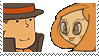 Layton x Rosetta Stamp by SamCCStamps