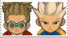 Kidou x Gouenji Stamp by SamCCStamps