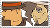 Layton x Dimitri Stamp by SamCCStamps
