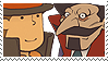 Layton x Don Paolo Stamp by SamCCStamps