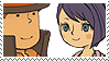 Layton x Katia Stamp by SamCCStamps