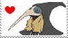 Black Raven Stamp by SamCCStamps