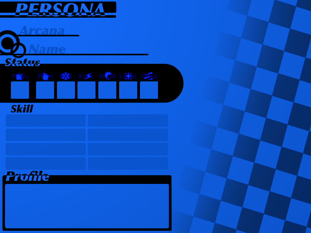 Persona Profile Sheet Template By Synchross