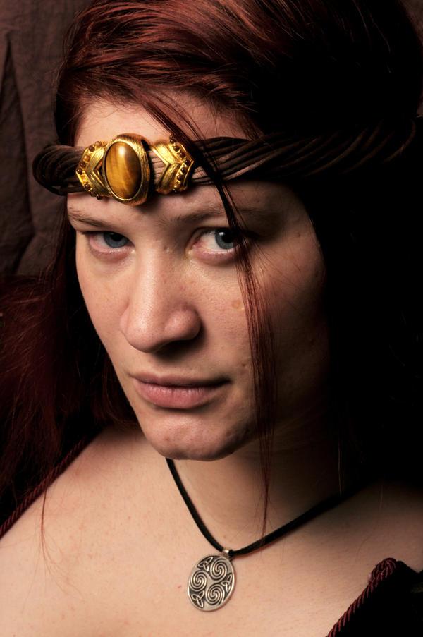 Warrioress Portrait by lindowyn-stock