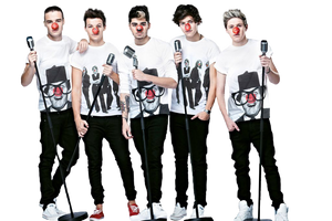 +One Direction {Red Nose Day} PNG [HQ] by unicornflawless