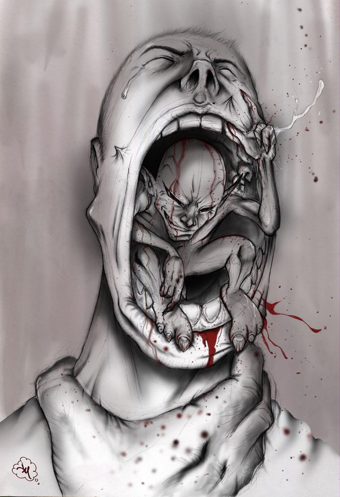 Scary drawings of demons demons drawings