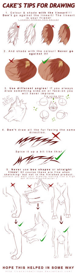tutorial Cake's tips for drawing