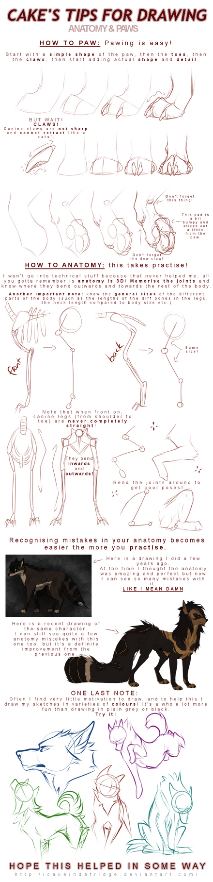 Cake Art Techniques : tutorialCake s tips for drawing: PAWS + ANATOMY by ...