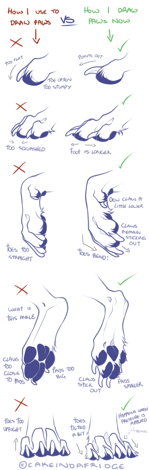How I Use To Draw My Canine Paws By