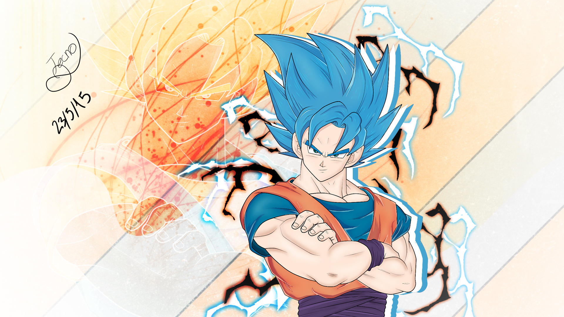 Hd wallpaper vegeta - Goku Super Sayajin Dios Azul V2 Fan Art By