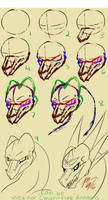 Mollish's 3/4 View Angular Dragon Head Tutorial! by Mollish